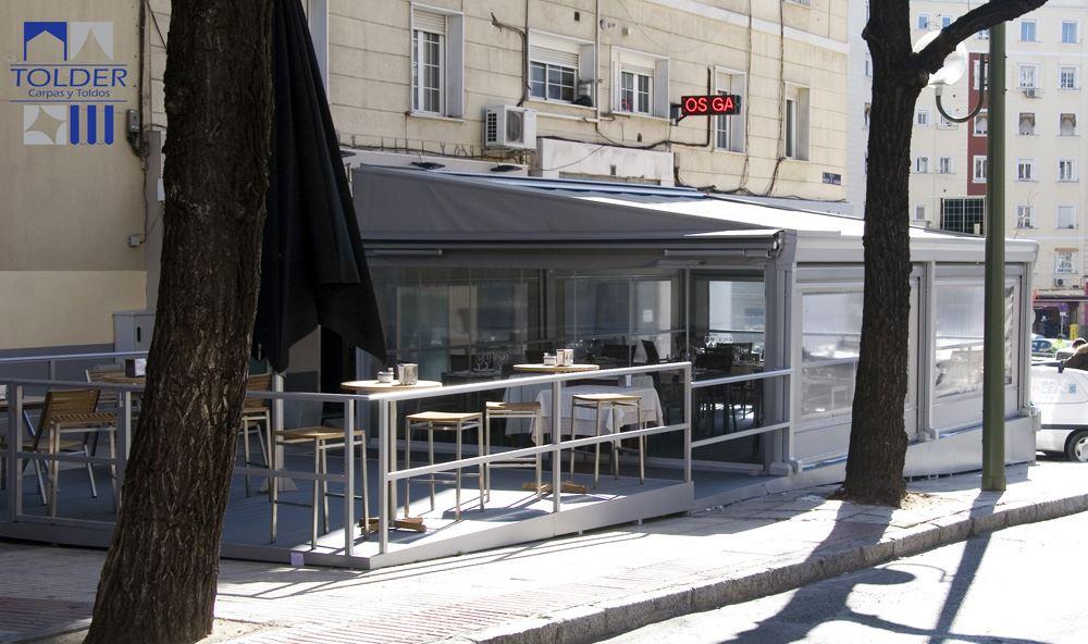 Pérgola para el Restaurante Marbella e Principe de Vergara, 276, Madrid