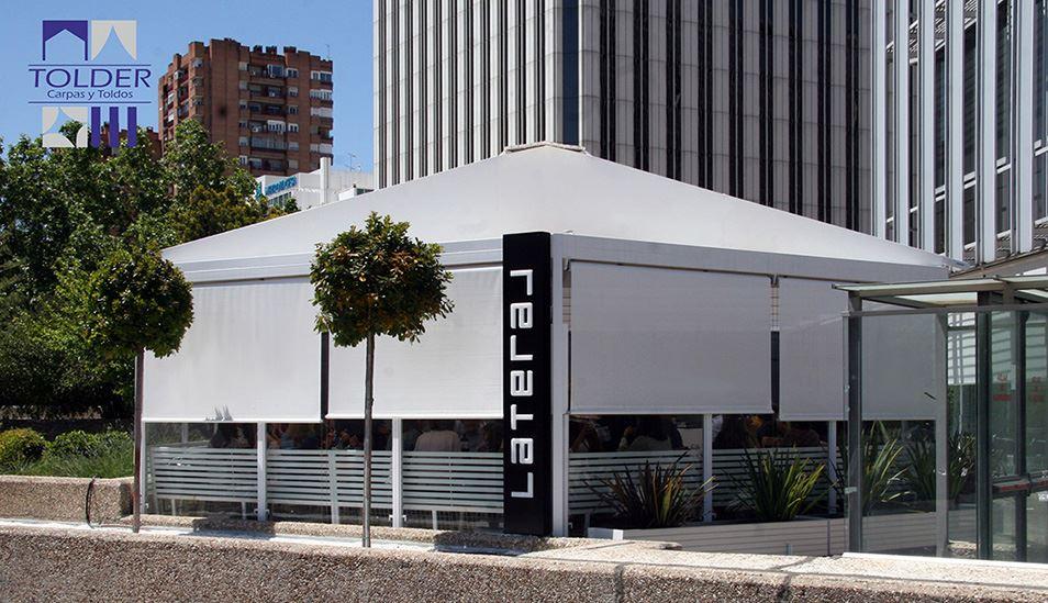 Pérgola para el restaurante Lateral de La Castellana 88, Madrid