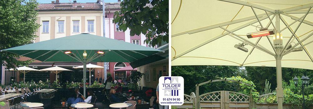 Sombrillas grandes para terrazas de bares lo mejor para - Sombrilla de terraza ...