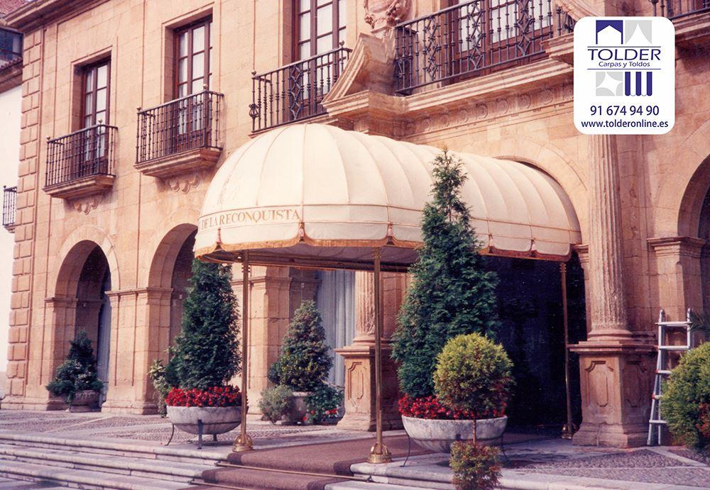 Tunel marquesina para el Hotel Reconquista de Oviedo, España.