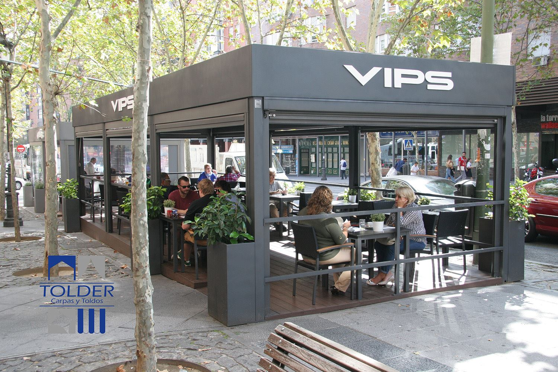 Terrazas tolder para el grupo vips tolder for Toldos moviles para terrazas