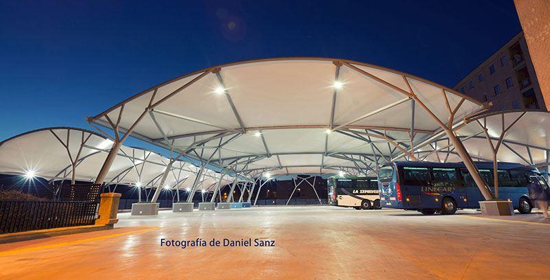 Arquitectura textil en la terminal de autobuses de Segovia